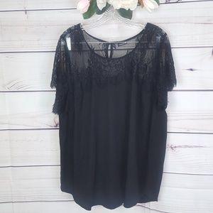 Torrid | Black lace blouse